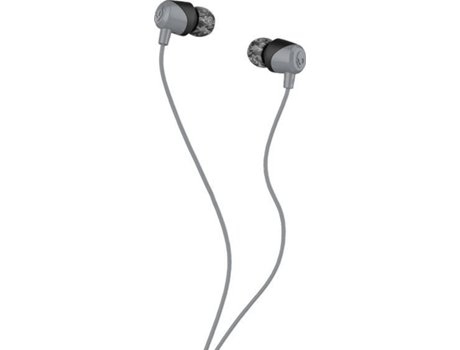 Auriculares Com fio SKULLCANDY Jib (In Ear - Microfone - Noise Canceling - Cinzento) — In Ear | Microfone | Noise Cancelling | Atende chamadas