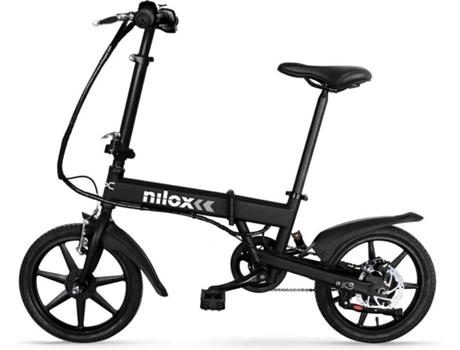 NILOX - Bicicleta Elétrica NILOX X2 Preta (Velocidade Máx: 25 km  Recondicionado Grade B - Autonomia: 25 )