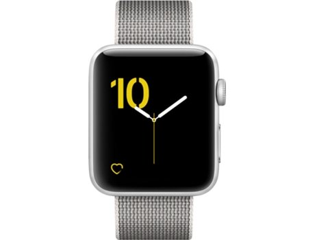 APPLE Watch Series 2 42 mm Prateado — Bluetooth 4.0 e Wi-fi | 273 mAh | iOS