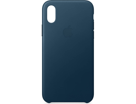 Capa APPLE iPhone X Leather Azul — Compatibilidade: iPhone X