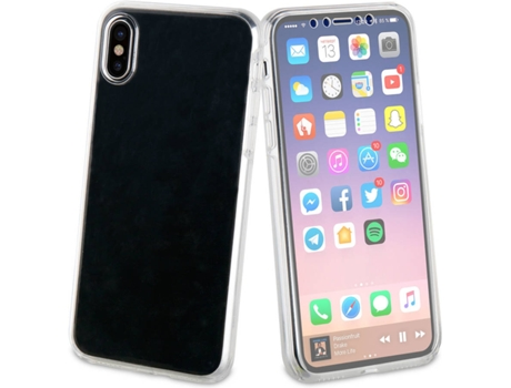 Capa MUVIT Crystal 3D iPhone X Transparente — Compatibilidade: iPhone X