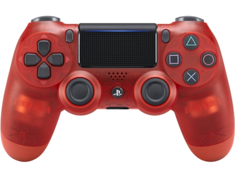 Comando PS4 Dualshock Crystal Red — PS4