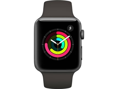Apple Watch APPLE Series 3 GPS 38 mm Cinzento Sideral, Preto — Bluetooth 4.2 e Wi-fi | 279 mAh | iOS