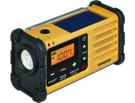 Rádio Solar SANGEAN MMR-88 (Amarelo - Digital - FM / AM - Bateria) — Digital