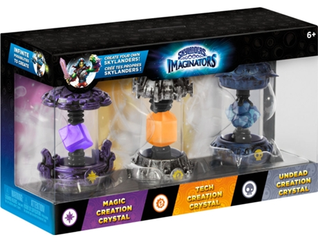 Figura Skylanders Imaginators (Pack de 3) - Magic, Tech and Undead Creation Crystal — Coleção: Skylanders Imaginators