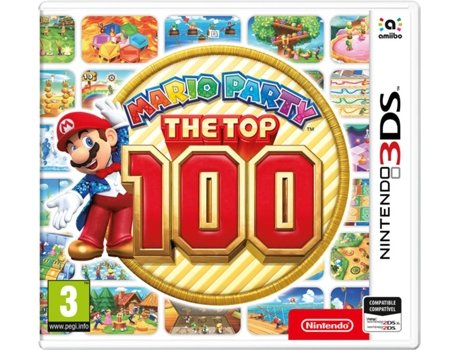 Jogo Nintendo 3DS Mario Party: The Top 100 — Infantil | Idade mínima recomendada: 3