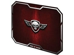 Tapete de Rato Gaming SPIRIT OF GAMER Wing Skull — Vermelho