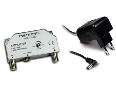 Amplificador metronic 4g 432172 for Amplificador tv cable coaxial