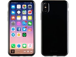 Capa MUVIT Crystal Lite iPhone X Preto — Compatibilidade: iPhone X