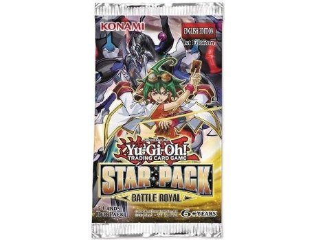 Pack Cartas Star Pack Yu-Gi-Oh! Battle Royal — 1 pack com 3 cartas