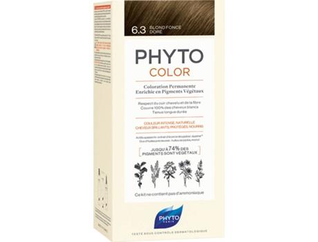 Coloração PHYTO Phytocolor 6.3 Louro Escuro Dourado Coloração Permanente Sem Amoníaco