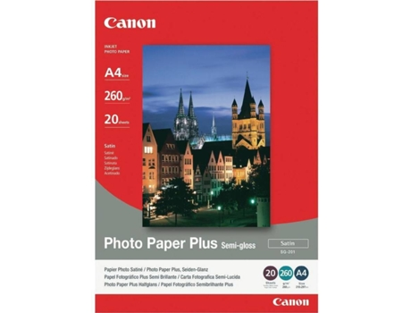 Papel Fotografico CANON Semi-Glossy A4 — Papel Fotográfico | Nº Folhas: 20 | 260 g