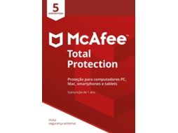Software MCAFEE TOTAL PROTECION 5 Devices — Software | Segurança