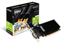 Placa Gráfica MSI GEFORCE GT710 2GB DDR3 — Nvidia GeForce GT 710 | 954 Mhz | 2GB DDR3