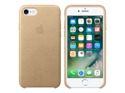 Capa APPLE iPhone 7 Leather Case - Tan — Compatibilidade: iPhone 7