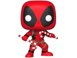 Figura FUNKO Pop! Bobble: Marvel: Holiday Deadpool w/ Candy Canes — Marvel