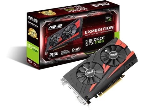 Placa Gráfica ASUS GeForce GTX 1050 2GB Expedition — GTX 1050 / 2GB GDDR5 / 1354 MHz