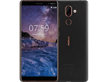 Smartphone NOKIA 7 Plus 64 GB Preto — Android 8.1 | 6'' | Octa-core 4x2.2 GHz + 4x1.8 GHz | 4GB RAM