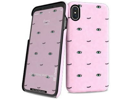 Capa I-PAINT Hard Eyes iPhone X Rosa — Compatibilidade: iPhone X