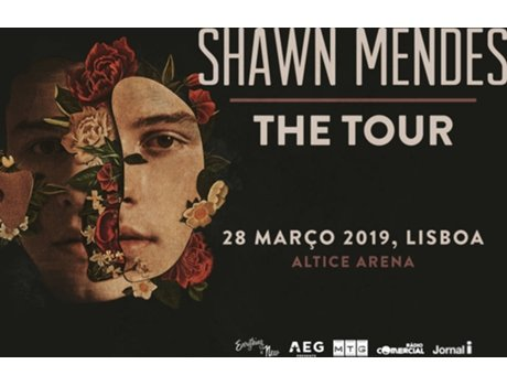 Bilhete Concerto Shawn Mendes: The Tour — Altice Arena