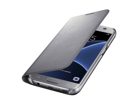 Capa Led View SAMSUNG Galaxy S7 Edge Prateada — Capa / Galaxy S7 Edge