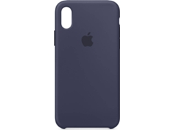 Capa APPLE Silicone Midnight iPhone X Azul — Compatibilidade: iPhone X