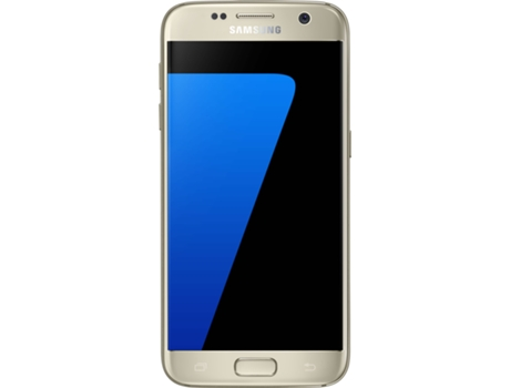 Smartphone SAMSUNG Galaxy S7 32GB Dourado — Android 6.0 / 5.1'' / 4G / Dual Core 2.15 GHz + Dual Core 1.6 GHz