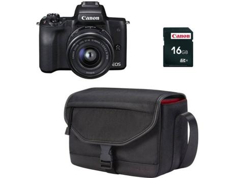 CAM FOT CANON M50+15-45+SB130+16GB PRETO | [6557007 ]