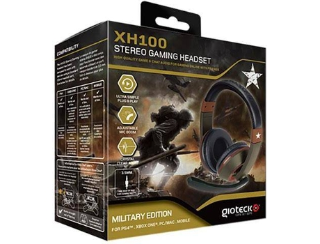 Microauscultadores Gaming GIOTECK XH-100 Military — Multiplataformas / Com micro
