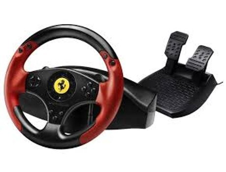 Volante Gaming FERRARI Red Legend Edition-PS3/PC — PC / PS3 / Preto e Vermelho
