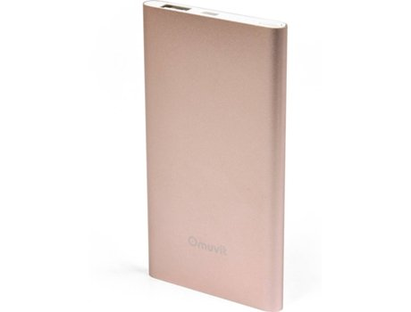 Power Bank MUVIT 5000mAh Rose Gold — 5000mAh