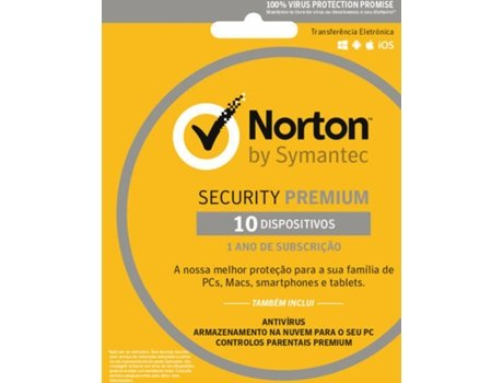 Software NORTON Security Premium 3.0 10 Diapositivos — Software | Segurança