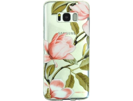 Capa HAPPY FRIDAY Flower Samsung Galaxy S8 Multicor — Compatibilidade: Samsung Galaxy S8
