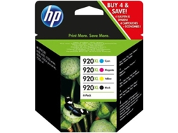 Pack Combo HP 920XL Cores (C2N92AE) — Preto e Cores | XL