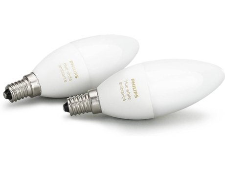 Lâmpada PHILIPS HUE Ambiance B39 E14 Kit Branco — Smart Lighting / E14
