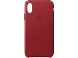 Capa APPLE Leather iPhone X Vermelho — Compatibilidade: iPhone X