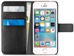 Capa PURO Wallet iPhone 5, 5s, SE Preto — Compatibilidade: iPhone 5, 5s, SE