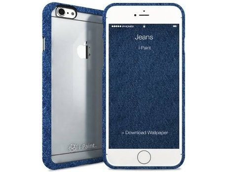Capa I-PAINT Ghost Jeans iPhone 6, 6s Azul — Compatibilidade: iPhone 6, 6s