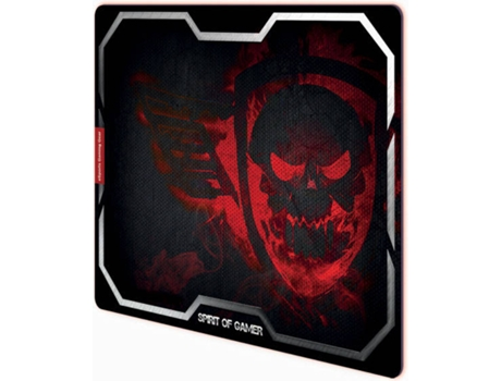 Tapete Rato Gaming SPIRIT OF GAMER Smokey Skull Vermelho — Vermelho