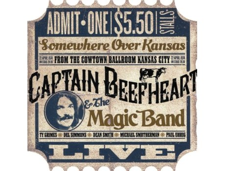 CD Captain Beefheart & The Magic Band - Somewhere Over Kansas. Live From Kansas 1974.