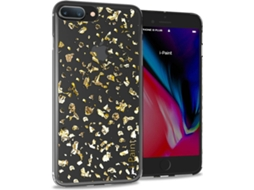 Capa I-PAINT Glitter iPhone 7 Plus, 8 Plus Dourado — Compatibilidade: iPhone 7 Plus, 8 Plus