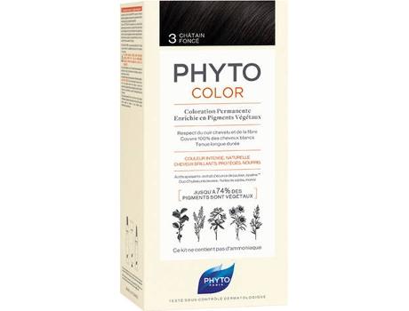 Coloração PHYTO Phytocolor 3 Castanho Escuro Coloração Permanente Sem Amoníaco