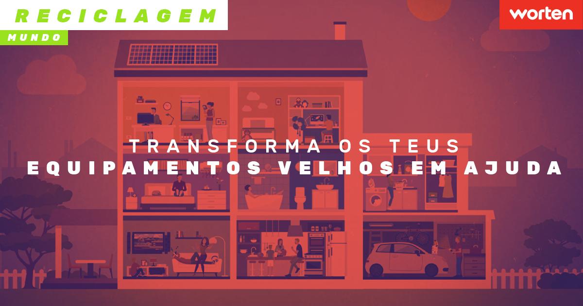 Transforma os teus eletrodomésticos velhos em ajuda