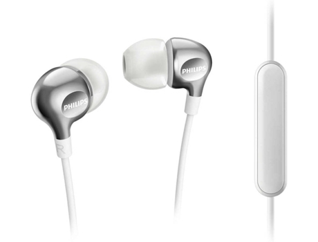 Auriculares PHILIPS SHE3705WT/00 — 16Ohm / 105Db / Microfone incorporado