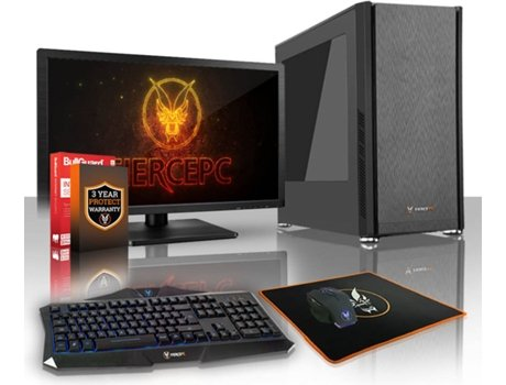 Pack Gaming FIERCE Exile - 418940 (Desktop Gaming + Monitor 21.5'') — Sem Sistema Operativo | Wi-Fi