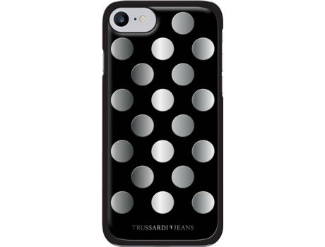 Capa TRUSSARDI Mirror iPhone 7, 8 Preto — Compatibilidade: iPhone 7, 8