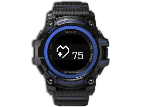 Smartwatch ZEBLAZE Muscle HR Azul — Bluetooth 4.0 | 160 mAh | Android e iOS