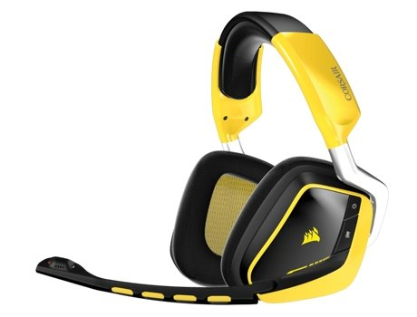 Microauscultadores Gaming CORSAIR Void Wireless SE RGB 7.1 DOLBY AMARELO — Wireless