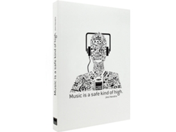 Caderno A6 MAKE NOTES Music Branco — A6 | 160 folhas