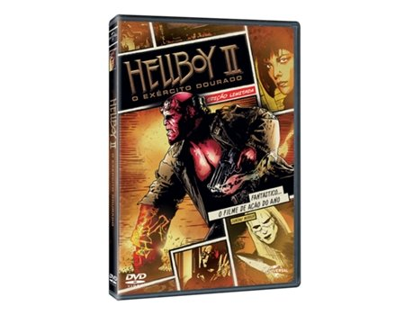 DVD Hellboy II: Exército Dourado - Heróis do Cinema — De: Guillermo del Toro | Com: Ron Perlman,Selma Blair,Doug Jones
